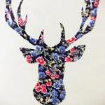 Hand made fabric reindeer christmas..